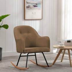 stradeXL Fotel bujany, brązowy, tapicerowany aksamitem