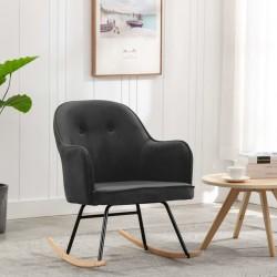 stradeXL Fotel bujany, ciemnoszary, tapicerowany aksamitem