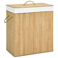 stradeXL Bamboo Laundry Basket 100 L