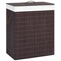 stradeXL Bamboo Laundry Basket Brown 100 L