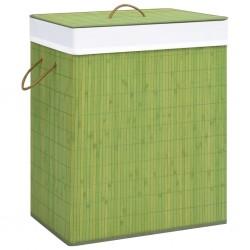 stradeXL Bamboo Laundry Basket Green 100 L