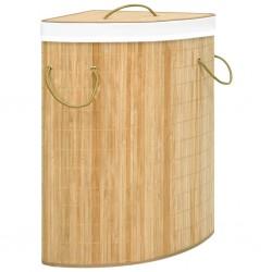 stradeXL Bambusowy kosz na pranie, narożny, 60 L
