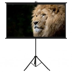 """stradeXL Projection Screen with Tripod 72"""" 16:9"""
