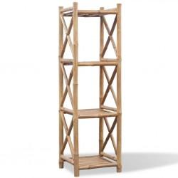4 poziomowa bambusowa półka