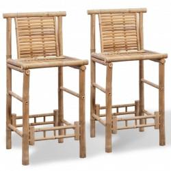 stradeXL Stołki barowe, 2 szt., bambus