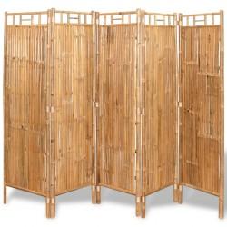 stradeXL 5-panelowy parawan bambusowy, 200x160 cm