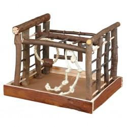 """TRIXIE Plac zabaw dla ptaków """"Natural Living"""" 35x29x25 cm drewno"""