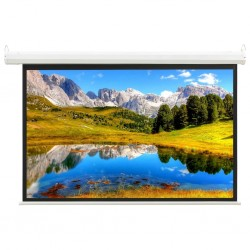"""stradeXL Electric Projection Screen with Remote Control 74"""" 4:3"""