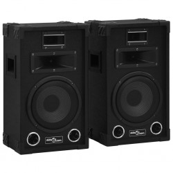 stradeXL Professional Passive Hifi Stage Speakers 2 pcs 800 W Black