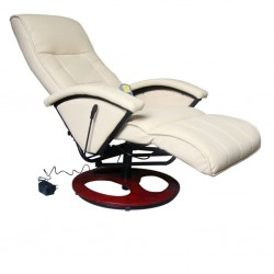 stradeXL Massage Chair Cream Faux Leather