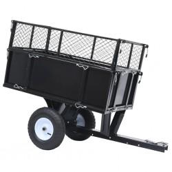 stradeXL Przyczepka do traktorka ogrodowego z odchylaną platformą 150 kg