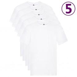 Fruit of the Loom Oryginalne T-shirty, 5 szt., białe, M, bawełna