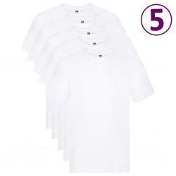 Fruit of the Loom Oryginalne T-shirty, 5 szt., białe, XL, bawełna