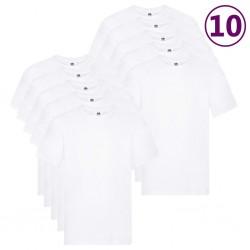 Fruit of the Loom Oryginalne T-shirty, 10 szt., białe, XL, bawełna