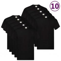 Fruit of the Loom Oryginalne T-shirty, 10 szt., czarne, M, bawełna