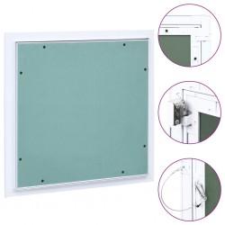 stradeXL Panel rewizyjny z aluminiową ramą i płytą gipsową, 300x300 mm