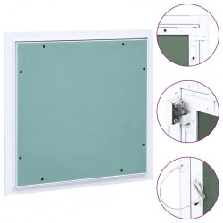 stradeXL Panel rewizyjny z aluminiową ramą i płytą gipsową, 400x400 mm