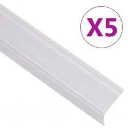 stradeXL Profile schodowe, kształt L, 5 szt., aluminium, 90 cm, srebrne