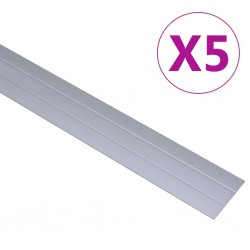 stradeXL Profile podłogowe, 5 szt., aluminium, 134 cm, srebrne
