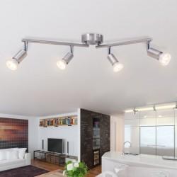 50467 stradeXL Lampa sufitowa 4 LED satynowy nikiel