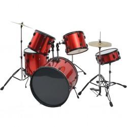 stradeXL Kompletna perkusja w kolorze czerwonym