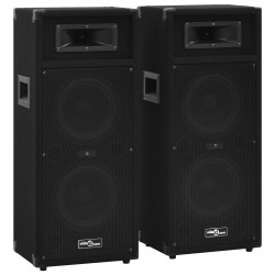 stradeXL Professional Passive Hifi Stage Speakers 2 pcs 1000 W Black