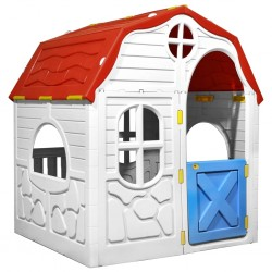 stradeXL Kids Foldable Playhouse with Working Door and Windows