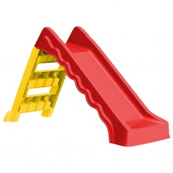 stradeXL Foldable Slide for Kids Indoor Outdoor Red and Yellow