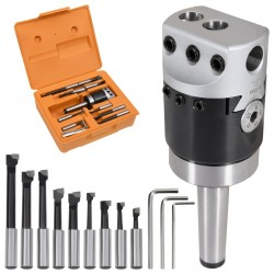 stradeXL 15-częściowy zestaw wytaczarski, głowica 50 mm, MT2-F1-12