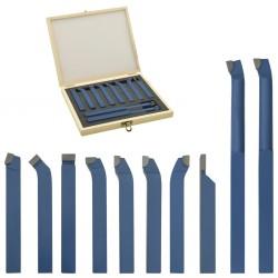 stradeXL Zestaw 11 noży tokarskich z węglików spiekanych, 10x10 mm, P30