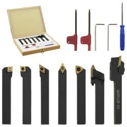 stradeXL Zestaw 12 noży tokarskich indeksowanych, 8x8 mm, 60 mm