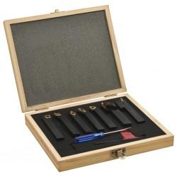 stradeXL Zestaw 12 noży tokarskich indeksowanych, 12x12 mm, 80 mm