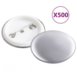 stradeXL Pinback Button Parts 500 Sets 37 mm