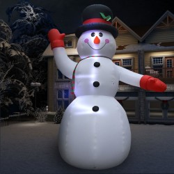stradeXL Christmas Inflatable Snowman 10 m XXL High Pressure Blower