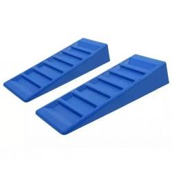 ProPlus 2-Piece Caravan Leveller Set 75mm Plastic Blue
