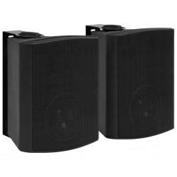 stradeXL Wall-mounted Stereo Speakers 2 pcs Black Indoor Outdoor 120 W