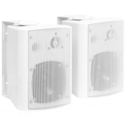 stradeXL Głośniki stereo do montażu na ścianie, 2 szt., białe, 80 W