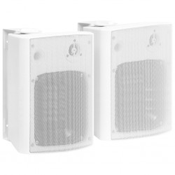 stradeXL Wall-mounted Stereo Speakers 2 pcs White Indoor Outdoor 120 W