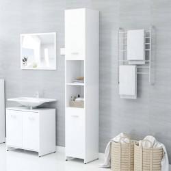 stradeXL Szafka łazienkowa, biała, 30x30x183,5 cm, płyta wiórowa