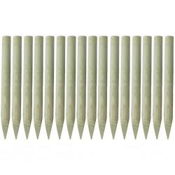 stradeXL Zaostrzone słupki ogrodzeniowe 16 szt. drewno impregnowane, 1 m