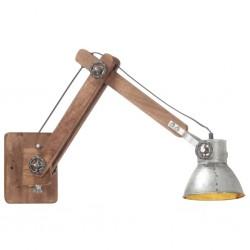 stradeXL Lampa ścienna w industrialnym stylu, srebrna, okrągła, E27