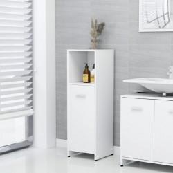 stradeXL Szafka łazienkowa, biała, 30x30x95 cm, płyta wiórowa