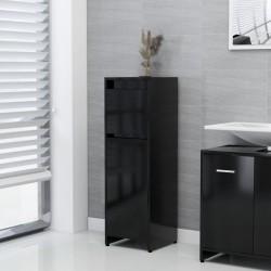 stradeXL Szafka łazienkowa, czarna, 30x30x95 cm, płyta wiórowa