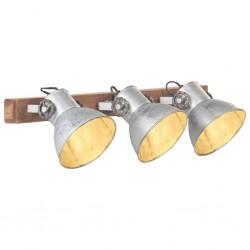 stradeXL Industrialna lampa ścienna, srebrna, 65x25 cm, E27