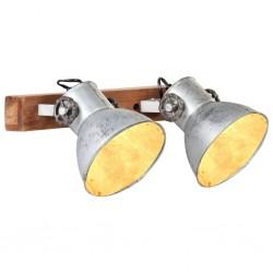 stradeXL Industrialna lampa ścienna, srebrna, 45x25 cm, E27