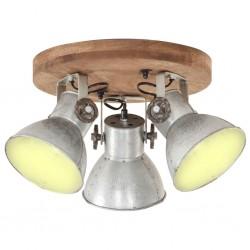 stradeXL Industrialna lampa wisząca, 25 W, srebrna, 42x27 cm, E27