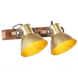 stradeXL Industrial Wall Lamp Brass 45x25 cm E27