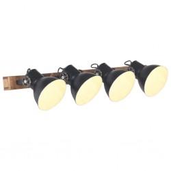 stradeXL Industrialna lampa ścienna, czarna, 90x25 cm, E27