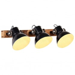 stradeXL Industrialna lampa ścienna, czarna, 65x25 cm, E27