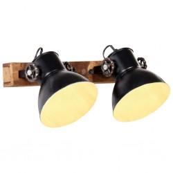 stradeXL Industrialna lampa ścienna, czarna, 45x25 cm, E27